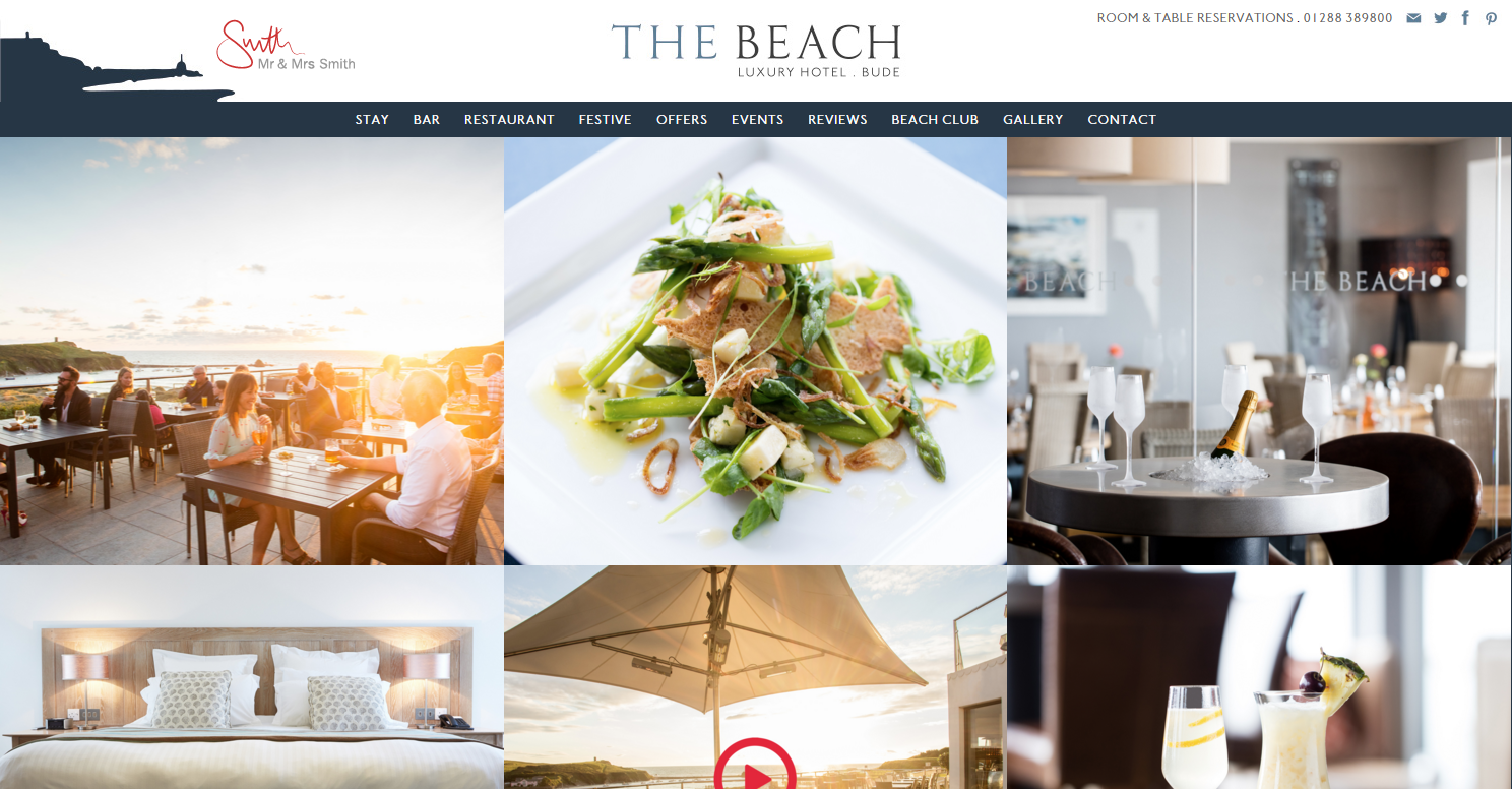 The beach boutique hotel restaurant in north cornwall for Best boutique hotel operators